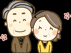 シニア夫婦笑顔クリア
